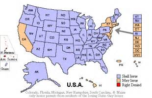 Usa Concealed Carry Map by Handgunlaw Us Ccw Map