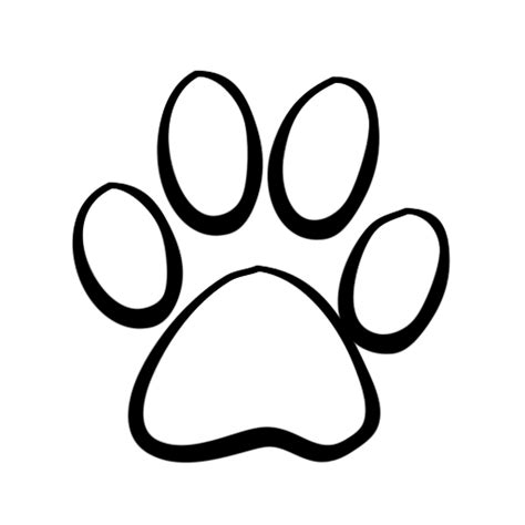 clip art print paw outlinewildcat clipart clipart kid