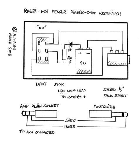 fender footswitch schematic free wiring diagram