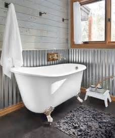 Tin Backsplash Installation by 19 Corrugated Metal 20 Budget Friendly Bath Ideas