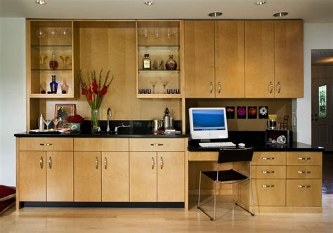 contemporary built in cabinets built in desk cabinets home office contemporary with bar