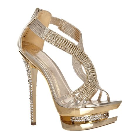 high heeled sandals t bar high heeled platform diamante sandals