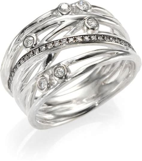 ippolita sterling silver multiband ring in silver