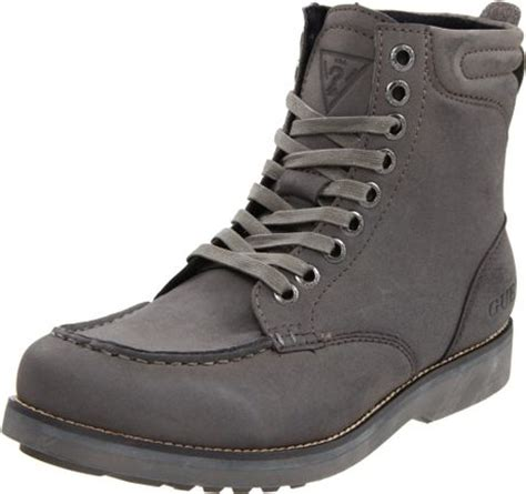 guess guess mens steady2 boot in gray for grey lyst