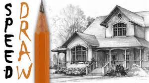 drawing house how to draw a house architecture speed drawing youtube