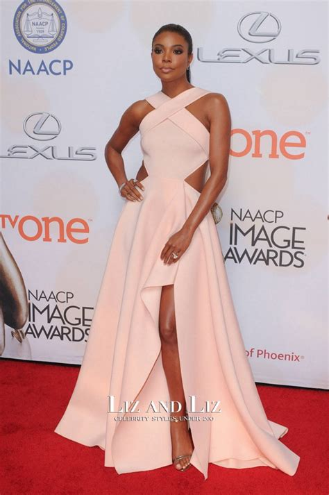 best unions gabrielle union pink dress naacp image awards
