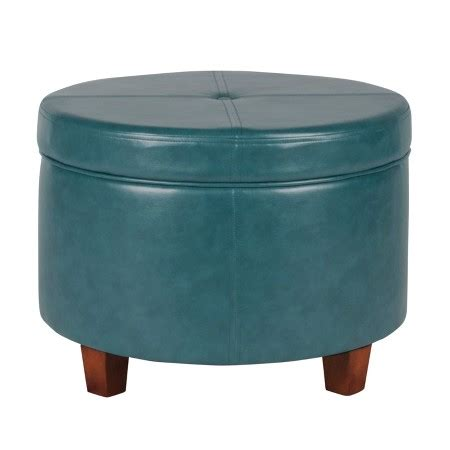 target round ottoman homepop large faux leather round storage ottoman homepop
