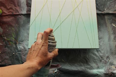 spray paint tutorial beginner diy abstract customized modern artwork