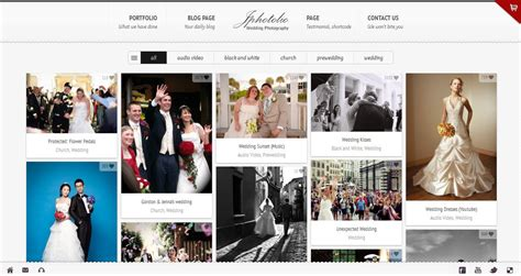 jphotolio responsive wedding photography wp theme by