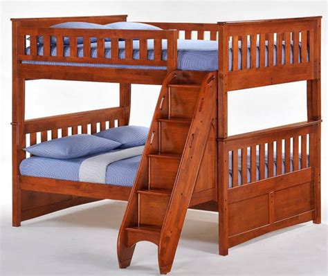 full over full bunk bed with stairs eastwood full over full stairway bunk beds grandkids