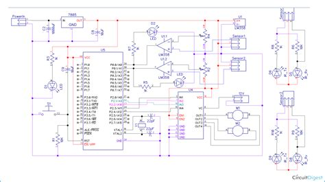 Microcontroller Project Circuit Diagram