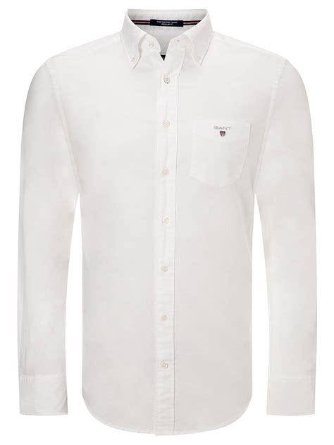 White Shirt Price South Africa by Gant Regular Fit Plain Oxford Shirt At Lewis Partners