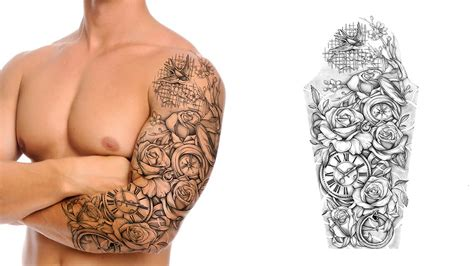 quarter sleeve rose tattoo awesome tattoo idea designs ideas interior design ideas