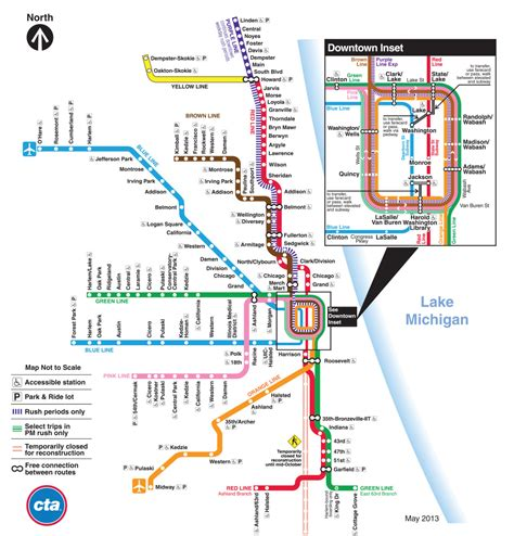 cta loop map the evolution of the chicago cta