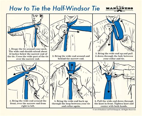 printable directions how to tie a tie how to tie a half windsor knot an illustrated guide the
