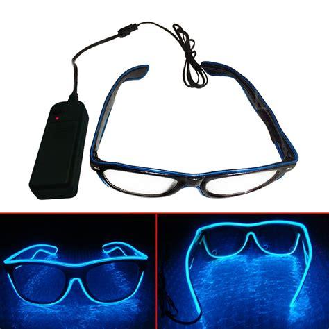 kacamata dj glow led blue jakartanotebook