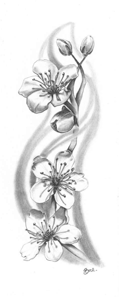 black cherry tattoo cherry blossom black and grey zoeken