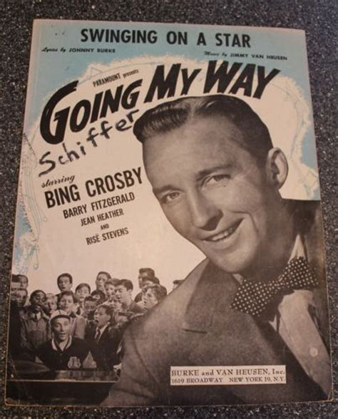 song swinging on a star sheet music swinging on a star bing crosby 1944