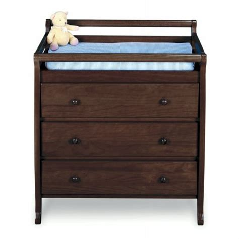 Jcpenney Changing Table Jcpenney Jcpenney Finish 3 Drawer Changing Table Cherry Coffee White