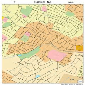 map of caldwell caldwell new jersey map 3409220
