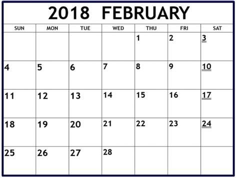 free fillable calendar template february 2018 calendar fillable to print printable