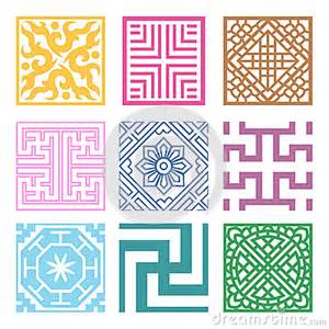 korean design plaid symbol sets geometric pattern design korean