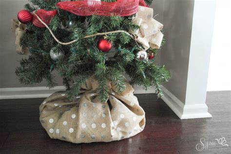 christmas tree skirt alternatives burlap tree wrap a skirt alternative sypsie designs