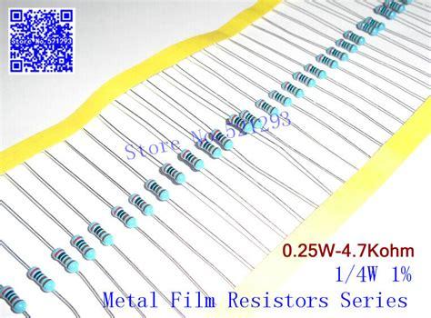 4k7 ohm resistor color 1 4w 4 7k ohm 1 resistor 1 4w 4k7 ohm metal resistors 0 25w color ring resistance