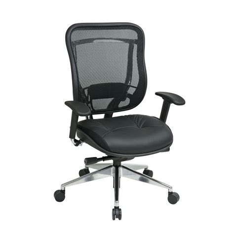 Office Chairs Home Depot Space Seating Black High Back Executive Office Chair 818a