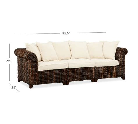 seagrass sofa seagrass roll arm sofa pottery barn