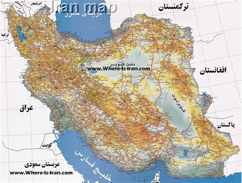 iran on a map iran map