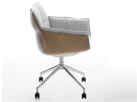 bb italia chair husk husk chair with casters by b b italia design urquiola