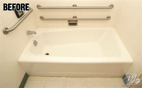 easy step bathtub to shower conversion refinished bathtubs countertops resurfaced tile reglazing