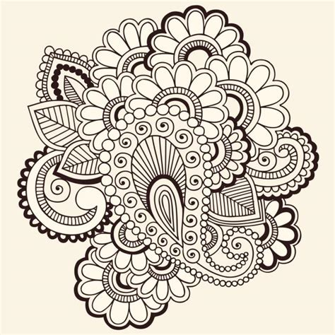 doodle flowers interpretation mandalas para imprimir todosimple