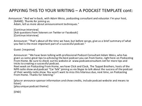 Podcast Template Podcast Sponsorship Template