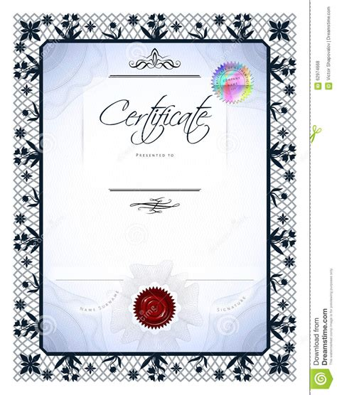 gift vintage certificate stock vector image 62974668