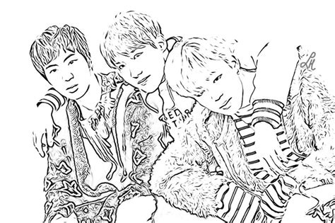 BTS Coloring Pages   K Pop Amino