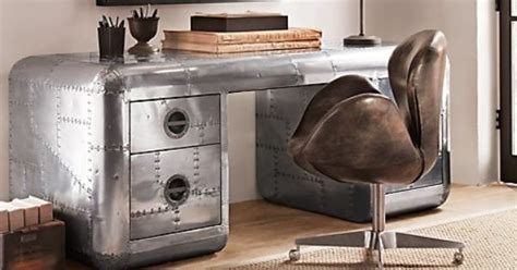 Home Office Desk Restoration Hardware Aircraft Skin Inspired Desk From Restoration Hardware