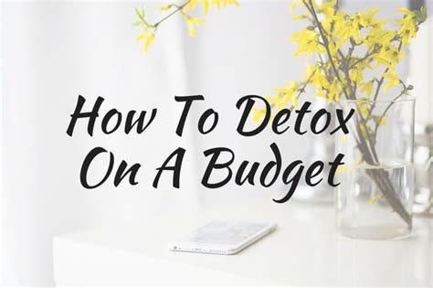 Detox Cleanse On A Budget by How To Detox On A Budget
