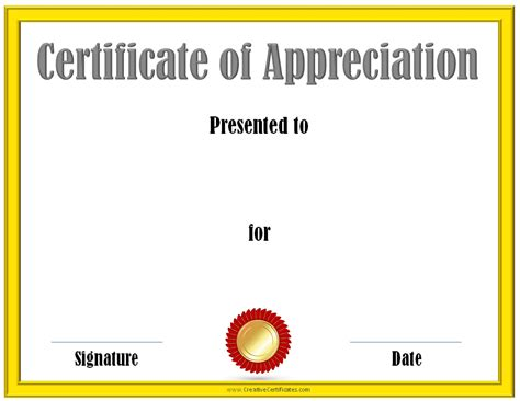 certificates of appreciation templates free editable certificate of appreciation customize