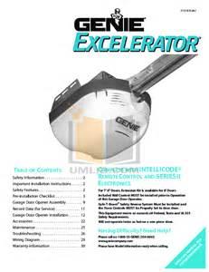 free pdf for genie promax garage door opener