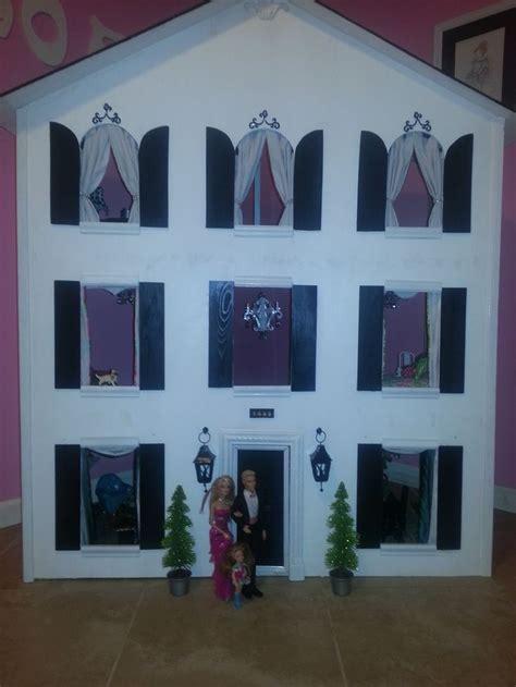 personalised dolls house custom designed barbie house three story white house with