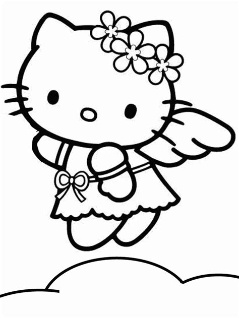 coloring page for hello kitty printable coloring pages
