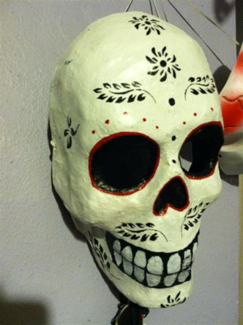 How To Make A Paper Mache Skull Mask - masks on paper mache mask papier mache and