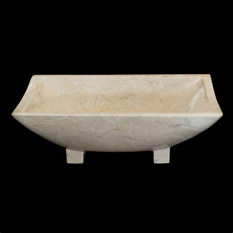 lavabo bagno pietra lavabo da appoggio bianco in pietra naturale iria 50x30x16 cm