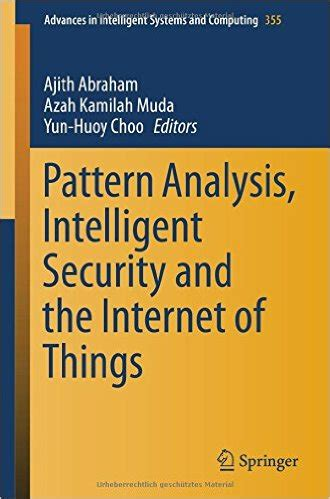 pattern analysis book pattern analysis intelligent security and the internet of