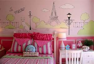 Wall Murals For Teenagers Wall Mural Paris Themed Bedroom Ideas For Girls Home