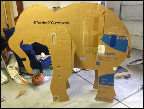 Make Paper Elephant - tutorial on how to make paper mache elephant almost