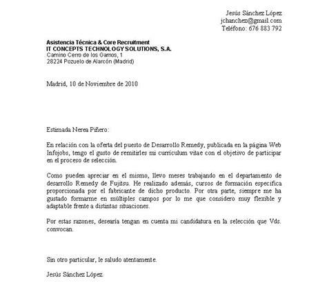Modelo De Carta De Presentacion Con Curriculum Vitae Jchanchez Carta De Presentaci 243 N Y Curriculum