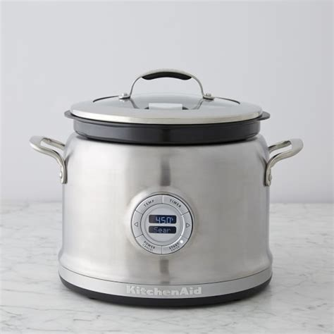 kitchenaid 174 4 qt stainless steel multi cooker with steam